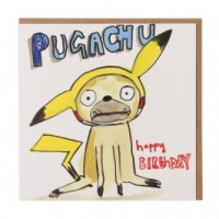 Pugachu Birthday Card