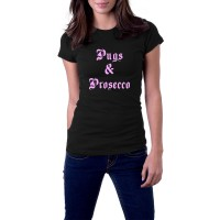 Ladies Pugs & Prosecco T-Shirt