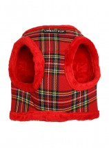 Urban Pup Red Checked Step In Fleece Lined Jacket Harness