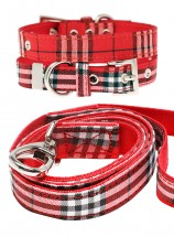 Urban Pup Red Tartan Lead & Collar Set