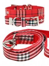 Urban Pup Red Tartan Lead & Collar Set