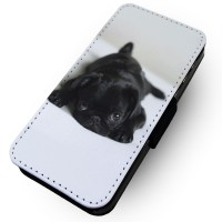 Sad Black Pug Phone Case For Various Models