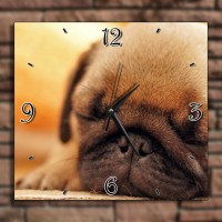 Sleeping Pug Wall Clock