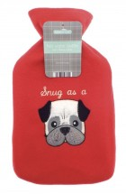 Snug As A Pug Hot Water Bottle