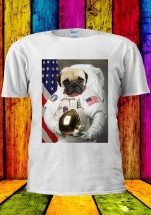 Space Pug Unisex T-Shirt (Available in 3 colours)