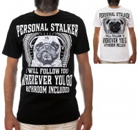 Mens Pug Stalker T-Shirt (Available in 2 colours)