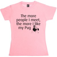 Ladies Funny Pug T-Shirt (Available in 8 colours)