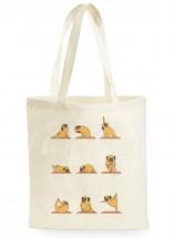 Yoga Pug Tote Bag