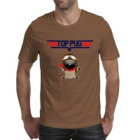 Mens Pug Top Gun T-Shirt (Available in 9 colours)