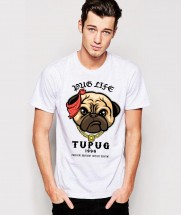Tupac Pug Unisex T-Shirt (Available in 6 colours)