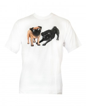 Two Pugs Playing Unisex T-Shirt