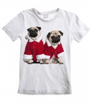 Child's Santa Pug  Christmas T-Shirt
