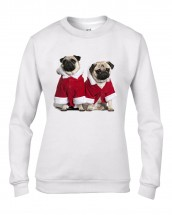 Ladies Santa Pugs Christmas Sweater