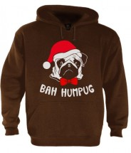 Unisex Bah Hum Pug Christmas Hoodie (Available in 2 colours)