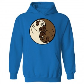 Unisex Pug Yin Yang Style Hoodie (Available in 11 colours)