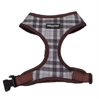 Brown & Grey Checked Wagytail Soft Harness