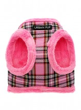 Urban Pup Pink Checked Step In Fleece Lined Jacket Harness