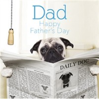 Pug Dad Fathers Day Card