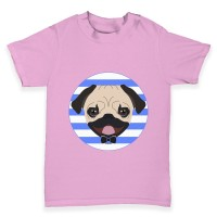 Toddlers Circle Pug T-Shirt (Available in 6 colours)