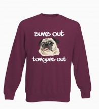 Suns Out Tongues Out Pug Unisex Sweater (Available in 4 colours)
