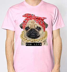 Unisex Head Scarf Pug T-Shirt