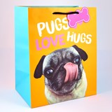 Pugs Love Hugs Medium Sized Gift Bag For All Occasions