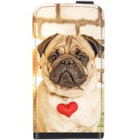 Love Heart Leather Flip Case For Samsung S5 G900F