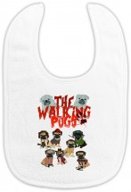 The Walking Pug Unisex Baby Bib