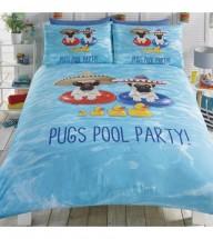 Pug Pool Party Single Duvet Set