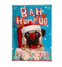 Bah Humpug Pug Lover Christmas Card