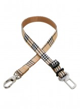 Urban Pup Beige Tartan Checked Seat Belt One Size
