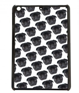 Cute Black  Pug Patterned Mini Ipad Cover For Models 1,2 & 3