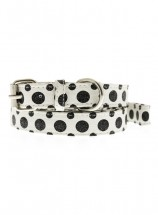 Urban Pup Black & White Polka Dot Collar & Lead Set