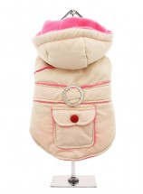 Urban Pup Cream & Pink Quilted Body Warmer