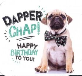 Dapper Pug Birthday Card