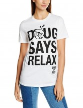Ladies Doug Says Relax Pug T-Shirt