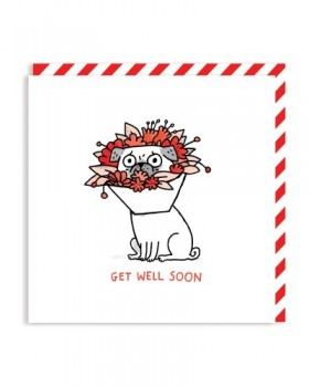 Get Well Soon Pug Card By Gemma Correll