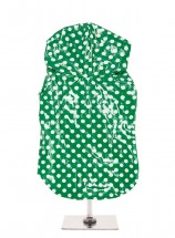 Urban Pup Green Polka Dot Waterproof Raincoat