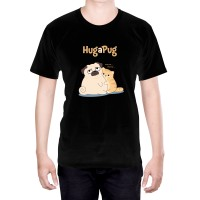 Hug A Pug Unisex T-Shirt With Cat (Available in 5 colours)