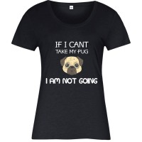 Ladies Funny Pug T Shirt (Available in 4 colours)