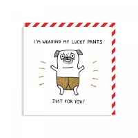 Funny Im Wearing My Lucky Pants Card By Gemma Correll