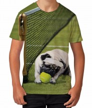 Kida Cool Tennis Pug T-Shirt