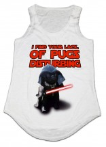 Ladies Funny Pug Vest -One Size