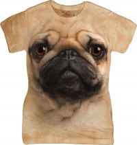Ladies The Mountain Pug Face T-Shirt