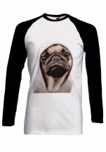 E.T Pug Long Sleeved Baseball Style Unisex T-Shirt (Available in 2 colours)