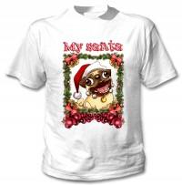 Unisex Santa Pug T-Shirt