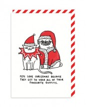 Funny Pug Christmas Card By Gemma Correll