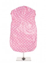 Urban Pup Pink Polka Dot Waterproof Raincoat (XL ONLY!)))