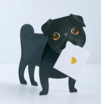 Sid The Pug Pop Up Pug Blank Card