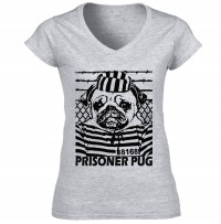Prison Pug Ladies T-Shirt